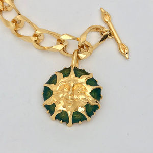 Vintage Fendi Gold Bracelet with Iconic Sun Charm